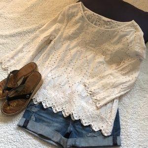 GAP Lace Shirt Sz S